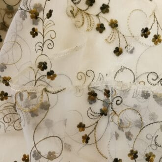 Органза c Вышивкой Цветы Болотные