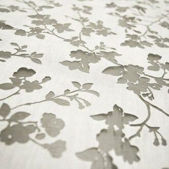 Вуаль Белая С рисунком Листья