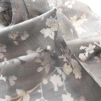 Вуаль Серая С рисунком Листья