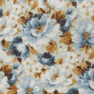 Лён С рисунком Цветы