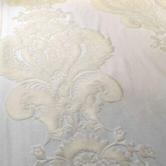 Панбархат с рисунком Белый