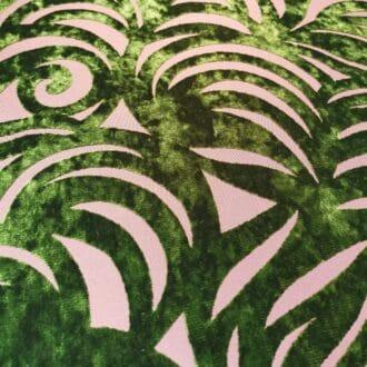 Панбархат с рисунком Зелёный