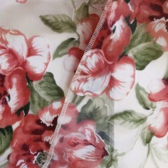 Вуаль Красная С рисунком Цветы