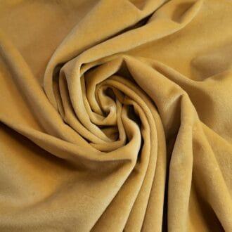 Вельвет Золотого цвета портьерный