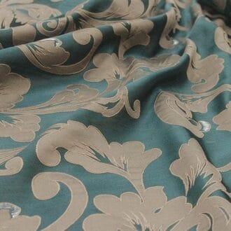 Ткань атлас нефритового цвета