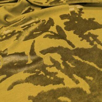 Панбархат с рисунком Жёлтый