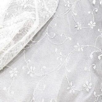 Вуаль Белая с мелким рисунком