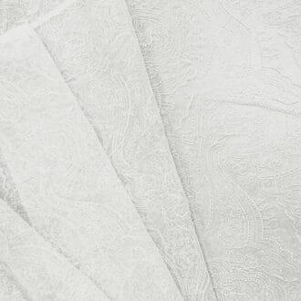 Вуаль с вышивкой Белая