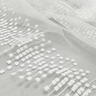 Вуаль с Вышивкой Геометрия Белый