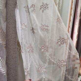 Вуаль с Вышивкой Розы Персиковый