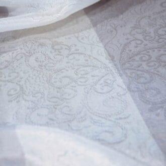 Вуаль с рисунком Серо-Молочный Узор