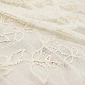 Вуаль С вышивкой Бежевые Листья