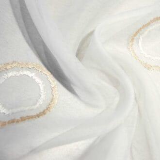 Вуаль с вышивкой круги