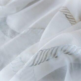 Органза с серебряной спиралью