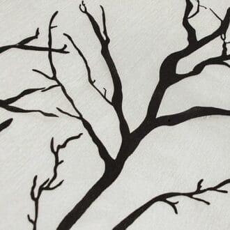 Вуаль черно-белая с рисунком деревья