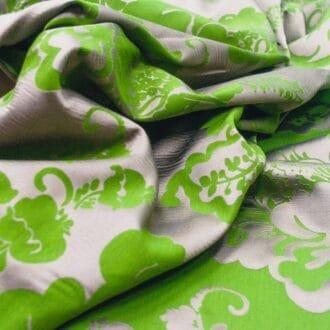 Жаккард зелёный с серым