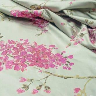 Жаккард цветы сакуры
