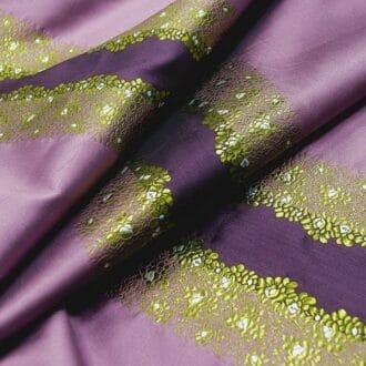 Жаккард фиолетовый в полоску