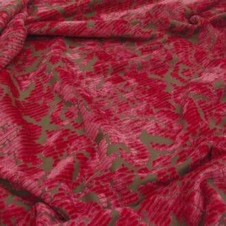 Панбархат с рисунком розовый