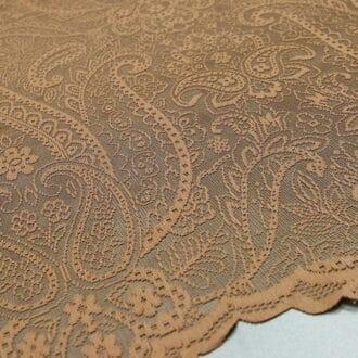 Вуаль коричневая с узорами