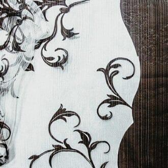Вуаль с рисунком коричневый