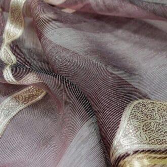 Вуаль фиолетовая с рисунком