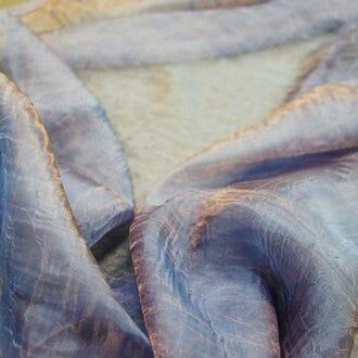 Органза-жатка голубая