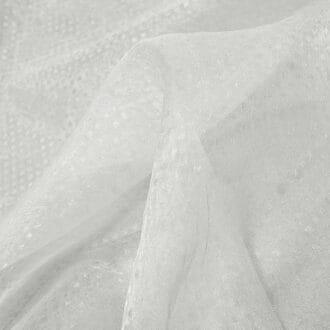 Органза Белая с блеском