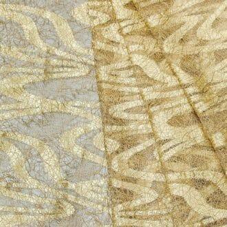 Сетка золотая с рисунком