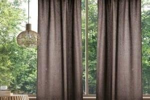 Ткань рогожка в интерьере гостиной