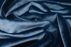 Синий портьерный бархат