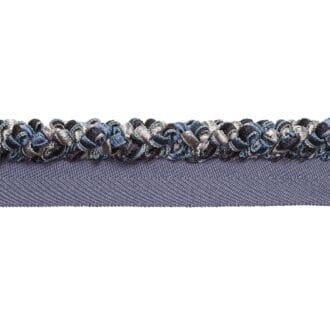 шнур втачной синего цвета