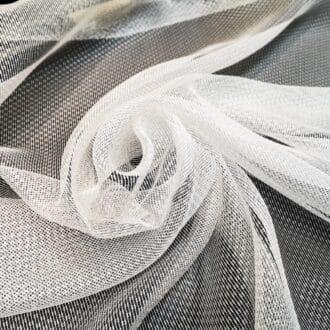 Ткань для тюля сетка мелкая белая