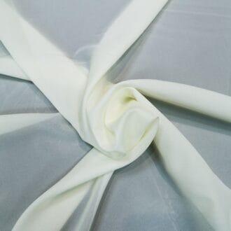 Ткань для тюля креп молочный