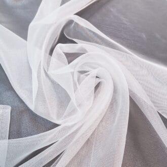 Ткань для тюля сетка белая