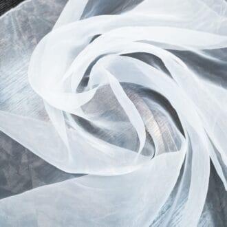 Ткань для тюля органза белая