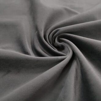 Бархат для мебели тёмно-серый
