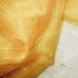 Органза золотая